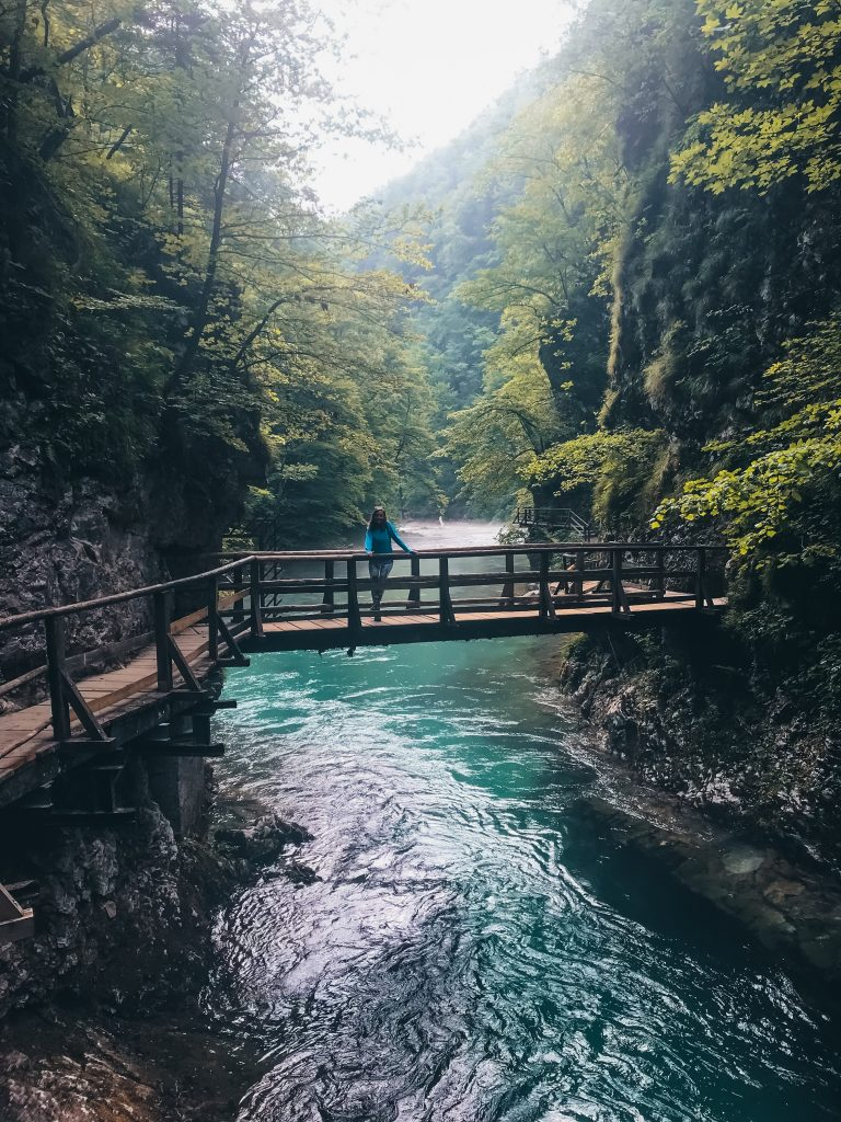 "<img src=""Twovelers Vintgar Gorge.jpg"" alt=""Vintgar Gorge in Slovenia hiking trails in Triglav national park"" srcset="