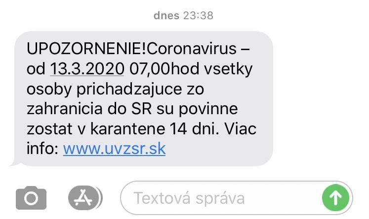 "<img src=""karantena slovensko twovelers.jpg"" alt=""slovensko karantena sms operátor"">."