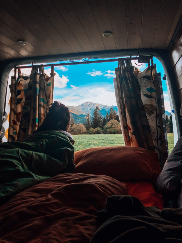 "<img src=""Twovelers blog- výhľady van life.jpg"" alt=""views from campervan in Slovak nature "">"