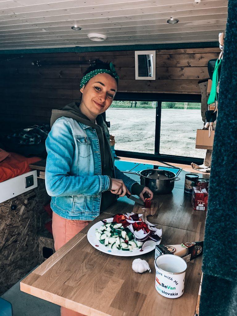 """<img src=""""Twovelers blog- varenie.jpg"""" alt=""""cooking  in campervan in Slovakia """">"""